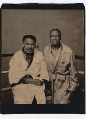 I find this image of Ali and Frazier, taken in 2003, to be profoundly melancholic . These two men, who were once so supreme and who shared such a glorious history, appear to have been defeated by age – Frazier especially. It's an uncomfortably earnest portrait.