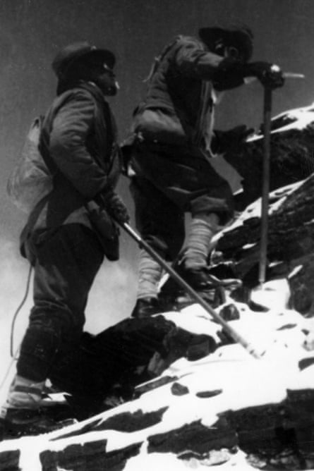 George Mallory and Edward Norton reach 27,000ft on the north-east ridge of Mount Everest, 1922.