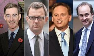 Jacob Rees-Mogg, Andy Coulson, Grant Shapps and Brooks Newmark