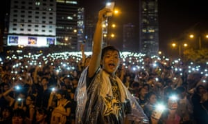 Pro-democracy protesters in Hong Kong