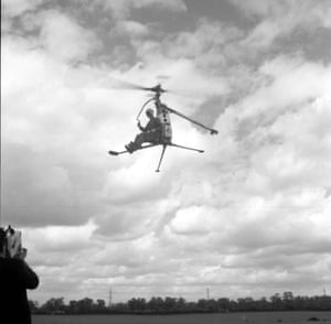 An experimental gyrocopter as an archive of weird and wacky innovations has been unearthed by an amateur historian as he trawled through a collection of images spanning the last 100 years.