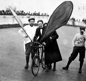 An experimental flying bicycle as an archive of weird and wacky innovations has been unearthed by an amateur historian as he trawled through a collection of images spanning the last 100 years.