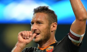 Francesco Totti took Ryan Giggs's Champions League record when he became the first man to score in the tournament at the age of 38.