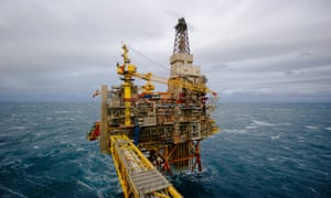 An offshore gas platform in the North Sea.