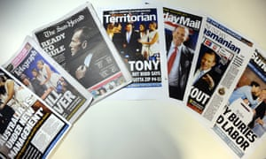 Tony Abbott 2013 victory newspapers