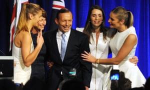 Tony Abbott 2013 victory celebration