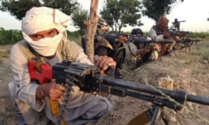 Masked Taliban militants pictured in Ghazni province in 2008