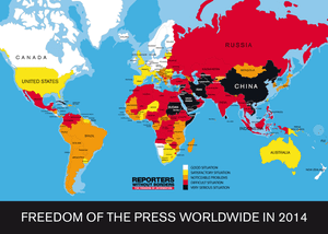 Freedom of the Press worldwide.