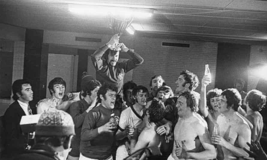 Rangers celebrate winning the European Cup Winners' Cup final against Dynamo Moscow at  the Camp Nou.