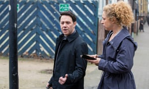 Chasing Shadows: Reece Shearsmith and Alex Kingston.