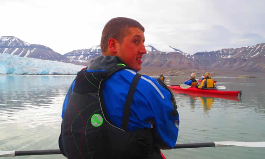 Chris Lowery in his kayak