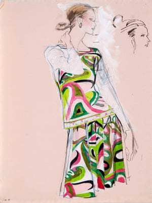 Pucci illustration for US Magazine by Brian Stonehouse in the 1970s