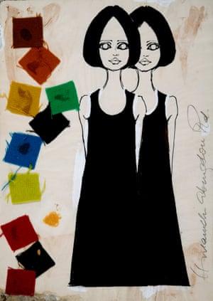 Black Shift Dress for Biba by Barbara Hulanicki, 1964