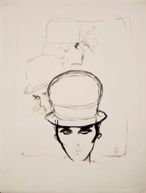 Hat by René Gruau for AD Design, 1960