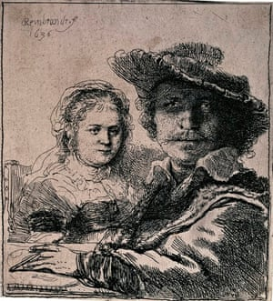 Self-Portrait With Saskia (1636) by Rembrandt.