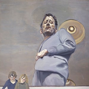 Reflection With Two Children (Self-Portrait) (1965) by Lucian Freud.