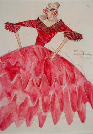 Wedding dress design by Zandra Rhodes, 1972