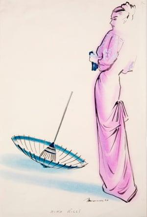 Illustration by Maynard for Nina Ricci, 1946