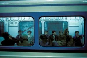 Beijing subway in the 1980s.