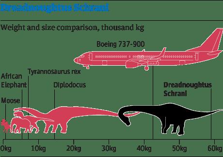 Dinosaur dreadnoughtus schrani
