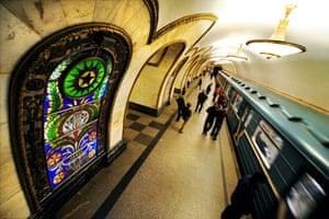 Novoslobodskaya metro station, Russia.