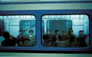 The Beijing subway in the 1980s.