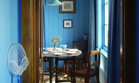 Blue Cabin dining area