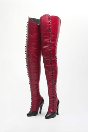 French boots, 1900-1920. Leather and cellulose.