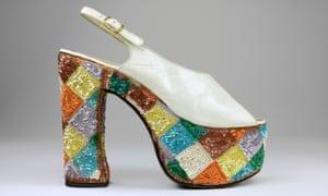 Casuccio e Scalera per Loris Azzaro (Italian). Sandal, 1974-79. Leather, synthetic material, cotton. T