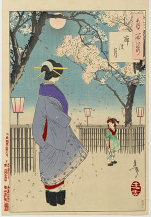 Tsukioka Yoshitoshi (Japanese, 1839 1892). The Moon at Kuruwa, from the series,  One Hundred Aspects of the Moon, 1886. Woodblock color print on paper, Bequest of Dr. Eleanor Z. Wallace.