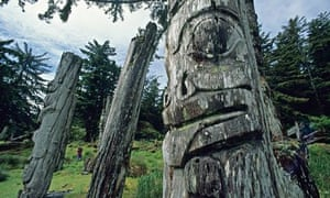 Haida totem poles Haida Gwaii, Canada