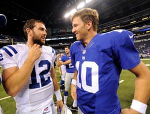 Andrew Luck, Eli Manning