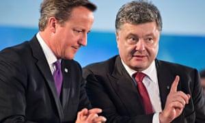 David Cameron and Petro Poroshenko