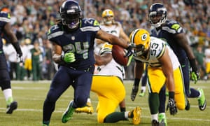 Marshawn Lynch ran all over the Green bay Packers as the Seattle Seahawks opened the 2014 NFL season with a 36-16 win at CenturyLink Field.