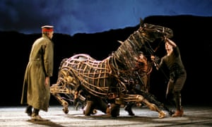 Rehearsals for War Horse at the National Theatre