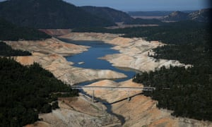 California's Lake Oroville low water levels