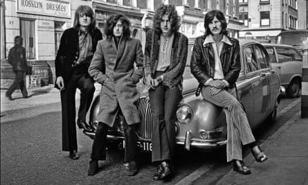 Led Zeppelin in London, 1968. Left to right: John Paul Jones, Jimmy Page, Robert Plant and John Bonham.