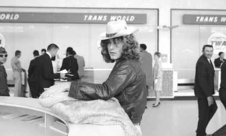 Robert Plant at Boston airport, 1969