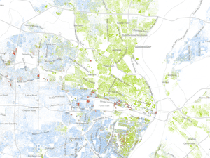 St Louis racial dot map