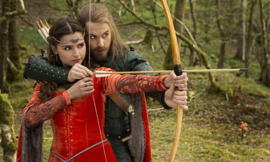 Doctor Who: Robot of Sherwood: Jenna Coleman as Clara and Tom Riley as Robin Hood.