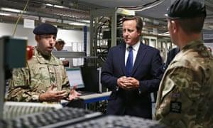 David Cameron Visits General Dynamics