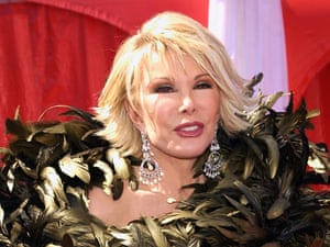 """Joan Rivers - """"I succeeded by saying what everyone else was thinking""""."""
