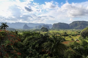 The stunning, distinctive landscape of Viñales in western Cuba.
