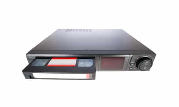 VHS player and cassette