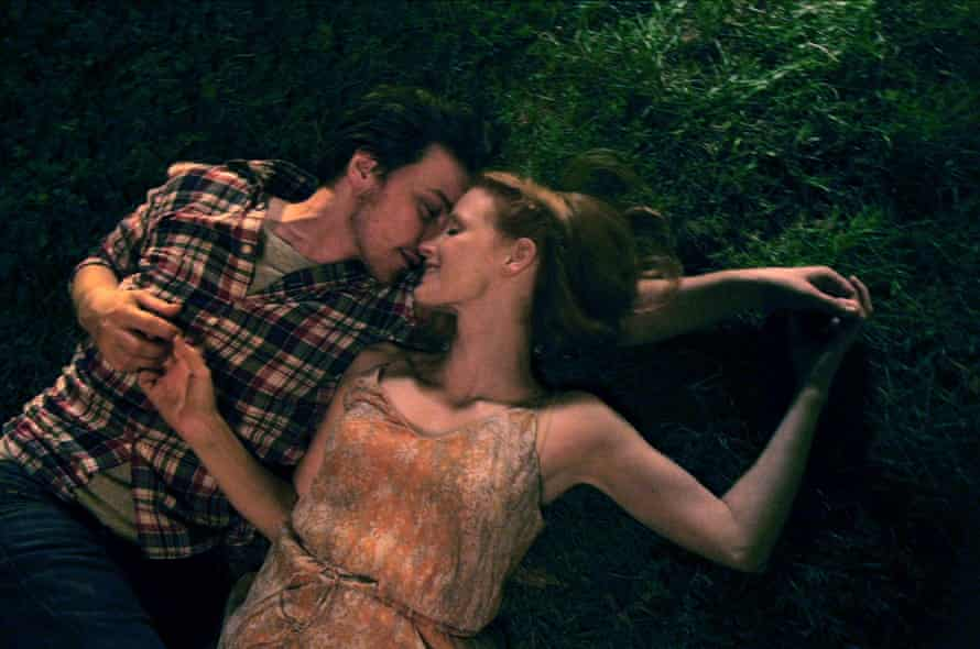 Jessica Chastain with James McAvoy in The Disappearance of Eleanor RIgby.
