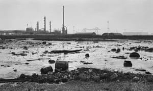 Oil slick outside ICI chemicals plant, 1988.
