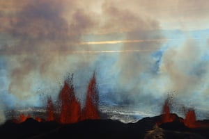 20 photos: Fountains of lava spurt from the Bardarbunga volcano in Iceland