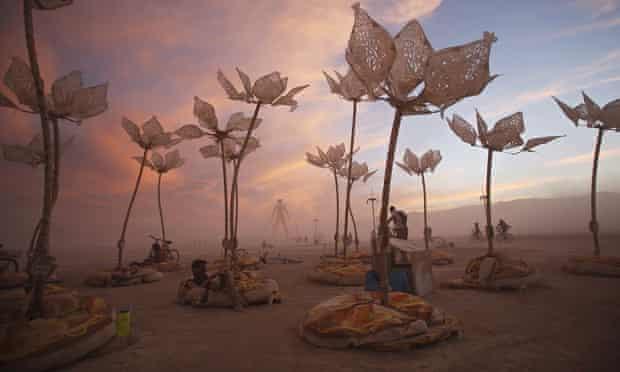 The art installation Pulse & Bloom at the Burning Man festival in the Black Rock Desert of Nevada