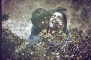 Diab Alkarssifi with a friend in the 1980s