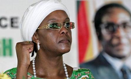 Grace Mugabe at a Zanu-PF meeting